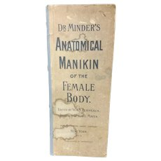 Reference Book Dr. Minder's Anatomical Manikin of the Female Body c. 1890-1910
