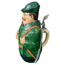 Stein German Man Character Painted