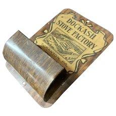 Advertising Tin Match Holder Dokash Stove Factory Scranton PA