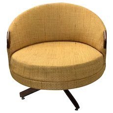 Adrian Pearsall Havana Chair 100% Original Mustard Tweed Swivel