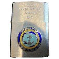 Zippo LIghter US Navy Pacific Fleet by H.P. Clindeman Rear Admiral USN
