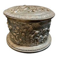 Silver plate Oval Box Bisquit Joe