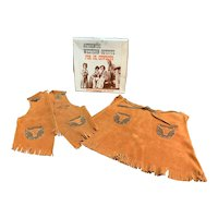 Authentic Western Outfit for Girl in Original Box Fringe Sheriff badge