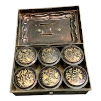 Spice Box holding 6 spice tins contains spices