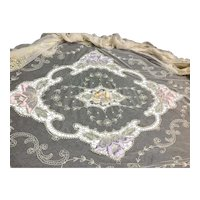 Beautiful Net Lace and Embroidery Bedspread