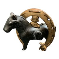 Buster Brown and Tige Good Luck Bank Cast Iron