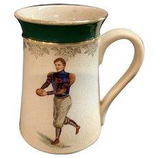 1910 University of Penn Football Punter Mug Signed F. Earl Christy