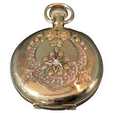 Elgin 14K Pocket Watch Runs W.W.C. Mfg Co 15 Jewel