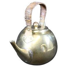 Vintage Brass Dutch Teapot or Broiler