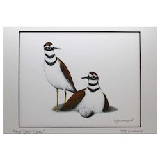 Any Day Now - Birds on Prints Signed Print by Don McMahon