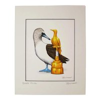 Booby Prize - Birds on Prints Signed Print by Don McMahon
