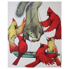 Cardinal Sin - Birds on Prints Signed Print by Don McMahon