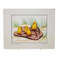 Chicks In Thongs - Birds on Prints Signed Print by Don McMahon