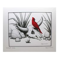 Desert Rose - Birds on Prints Signed Print by Don McMahon