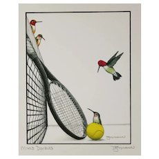 Mixed Doubles - Birds on Prints Signed Print by Don McMahon
