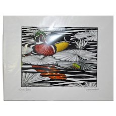 Nice Pad - Birds on Prints Signed Print by Don McMahon