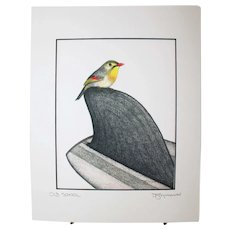 Old School - Birds on Prints Signed Print by Don McMahon