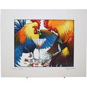 Party Fowl - Birds on Prints Signed Print by Don McMahon