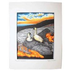 Pele's Nenes - Birds on Prints Signed Print by Don McMahon
