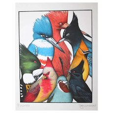 Punked - Birds on Prints Signed Print by Don McMahon