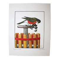 Robin A Treat - Birds on Prints Signed Print by Don McMahon