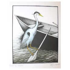 Row vs Wade - Birds on Prints Signed Print by Don McMahon