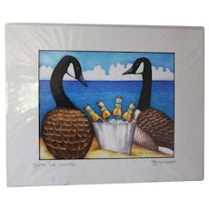 South For Winter - Birds on Prints Signed Print by Don McMahon