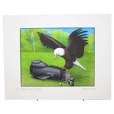 The Eagle Has Landed - Birds on Prints Signed Print by Don McMahon