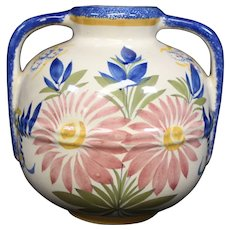Henriot Quimper - Decorative Two Handled Vase - Classic Design