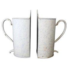 Wall Mounted Garden Metal Water Jugs - Pair