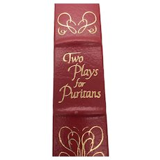 The Plays for Puritans - George Bernard Shaw - Leather Bound - Pristine
