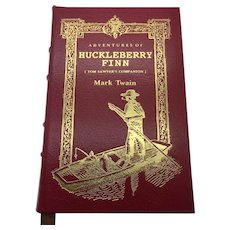 Huckleberry Finn - Mark Twain - Leather Bound - Pristine