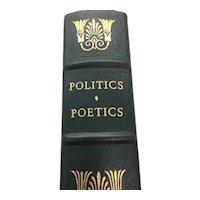 Politics Poetics - Aristotle - Leather Bound - Pristine