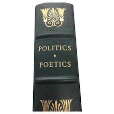 Politics Poetics - Aristotle - Leather Bound - Pristine