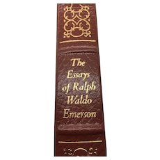 The Essays of Ralph Walden Emerson - Emrson - Leather Bound - Pristine