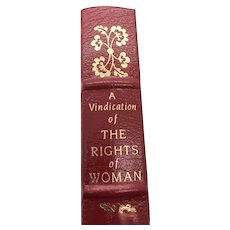A Vindication of The Rights of Woman - Wollstonecraft - Leather Bound - Pristine