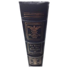 An Essay on the Principle of Population - Malthus - Leather Bound - Pristine