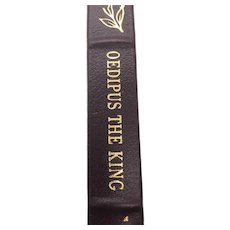 Oedipus The King - Sophocles - Leather Bound - Pristine