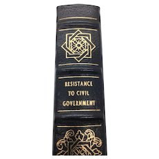 Resistance to Civil Government - Henry David Thoreau - Leather Bound - Pristine
