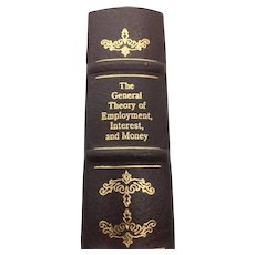The General Theory of Employment, Interest & Money - John Maynard Keynes - Leather Bound - Pristine