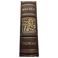 Walden or Life in the Woods - Henry David Thoreau - Leather Bound - Pristine
