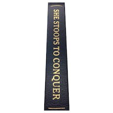 She Stoops To Conquer - Oliver Goldsmith - Leather Bound - Pristine