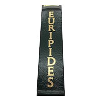 Medea, Hippolytus and The Bacchae - Euripedes - Leather Bound - Pristine