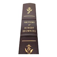 The Poems of Robert Browning - Leather Bound - Pristine