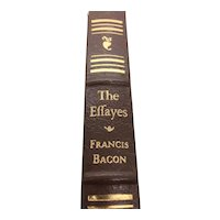 The Effayes - The Essays - Francis Bacon - Leather Bound - Pristine