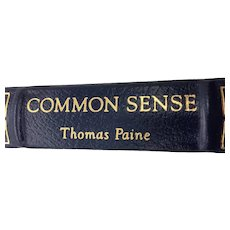 Common Sense - Thomas Paine - Leather Bound - Pristine