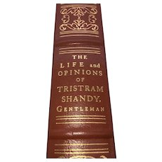 The Life and Opinions of Tristram Shandy Gentleman - Laurene Sterne - Leather Bound - Pristine