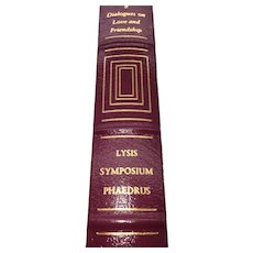 Dialogues on Love and Friendship - Plato - Leather Bound - Pristine