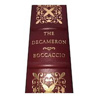 The Decameron - John Boccaccio - Leather Bound - Pristine