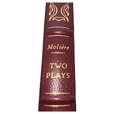 Two Plays - Tartuffe & The Would-Be Gentleman - Moliere - Leather Bound - Pristine